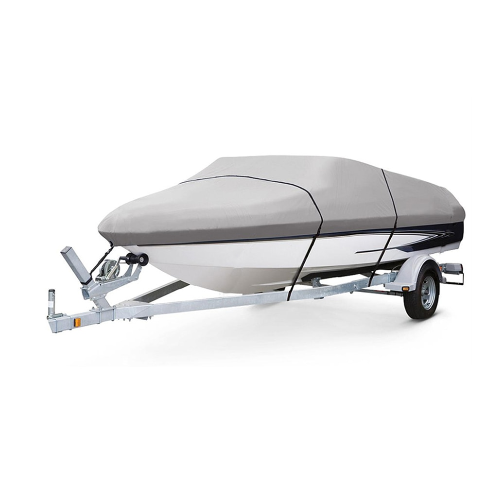 Heavy Duty Polyester Boat Cover Taffeta Trailerable 11 22ft Classic Accessories High Quality Waterproof UV Anti