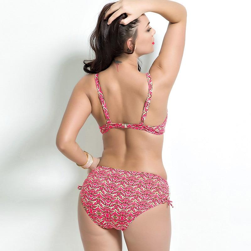 17 Women Plus Size Bikini Set Brazilian Push Up Women High Waist Swimwear Big Chest Swimsuit Plus Size Print Swimsuit 5XL 12
