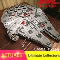 Lepin 05033 5265Pcs Great Millennium Falcon Model Building Blocks Set Bricks Toys For Children Gift 10179