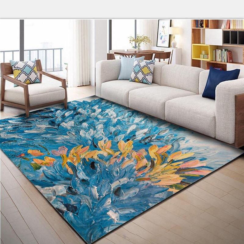 Creative Fish Print Bathroom Carpet Floor Mat Rug For Home Decor Elegance Anti Slip Sofa Mat Bath Carpet Big Rug Bedroom Pad