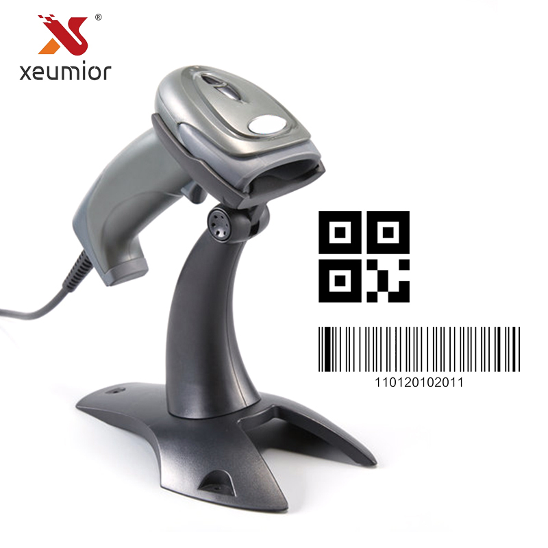 Xeumior Handheld Wired 2D Barcode Scanner Reader Inventory Bar Code USB for POS System Machine
