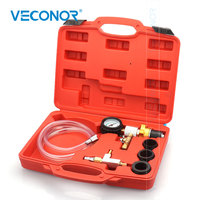 VECONOR Cooling System Vacuum Purge & Refill Kit Auto Car Radiator Coolant Purging Tools Set Gauge for BENZ BMW VW AUDI