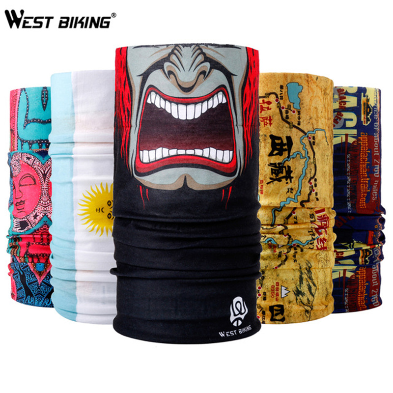 WEST BIKING Buy 2 Get 1 Free Cycling Mask Scarf Windproof Breathable Sport Climbing Hiking Bandana Scarf Cycling Face Mask 2018 women scarf muslim hijab scarf chiffon hijab plain silk shawl scarveshead wrap muslim head scarf hijab