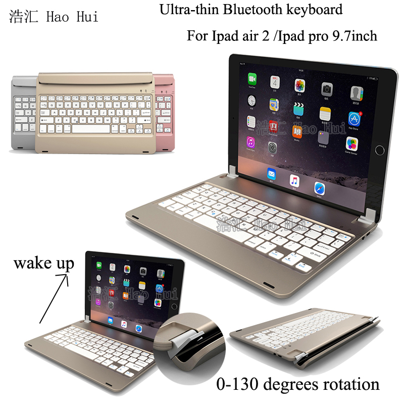 New Wireless Bluetooth 3.0 ABS Keyboard For IPad Air 2 Bracket Style Bluetooth keyboard For IPAD pro 9.7'' English Russian bluetooth v2 0 wireless 78 key keyboard for ipad ipad 2 the new ipad white silver