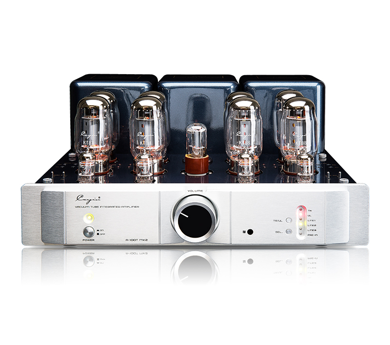 Queenway cayin A-100T MK2 high power HIFI push-pull tube amplifier integrated power amplifier KT88*8 6SN7 12AU7*4 music hall latest muzishare x7 push pull stereo kt88 valve tube integrated amplifier phono preamp 45w 2 power amp