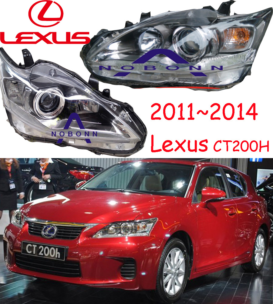 Lexu CT200 headlight,Secondhand,CT200,2011~2013,Fit for LHD,Free ship! CT200 fog light,2ps/set+2pcs Aozoom Ballast;CT 200 ct