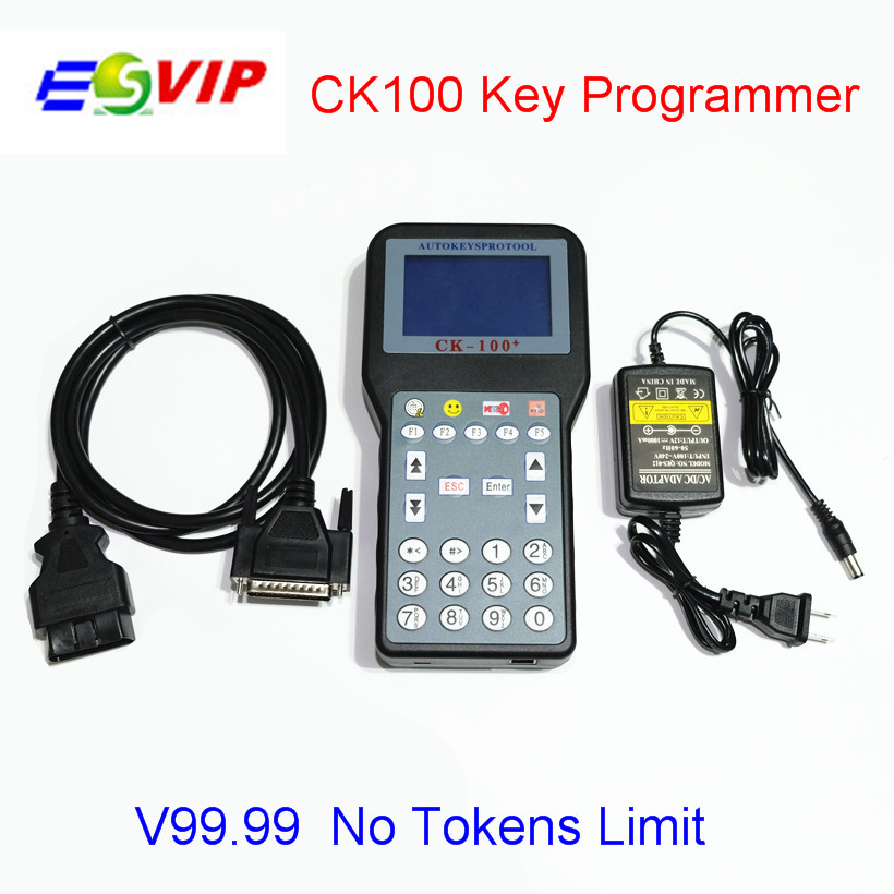 Auto Key Programmer CK100 No Tokens Limite CK-100 Car Key Maker V99.99 Latest Generation of SBB CK 100 With 7 Language Free Ship  promotion newest ak90 key programmer ak90 pro key maker for b m w all ews version v3 19 plus ak90 with free shipping