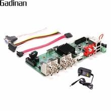 Gadinan оригинальный CCTV H.264 сети видео Регистраторы 8-канальный AHD 4MP, CVI, TVI, CVBS, HDMI, 5 в 1 гибрид NVR DVR borad с адаптером