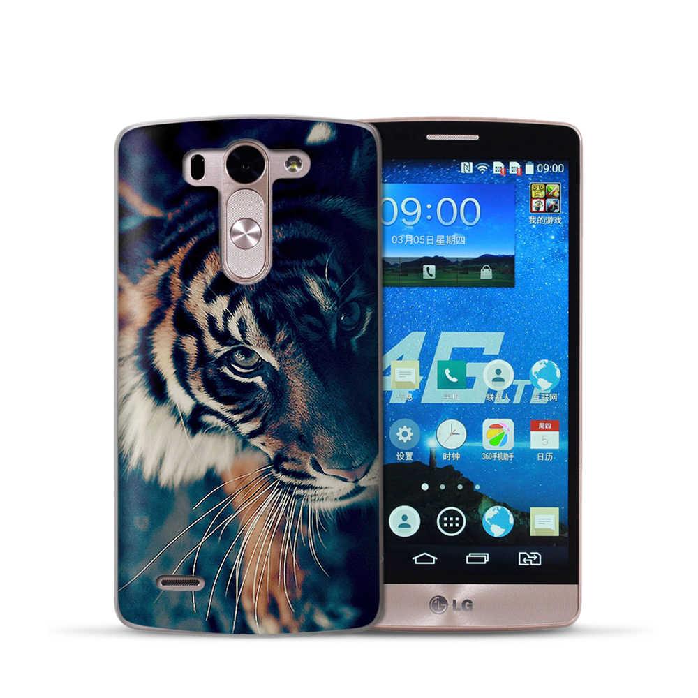De moda de tigre león caso cubierta para LG Q6 G6 X 2 X pantalla G4 G5 Q8 K7 K8 K10 fundas de silicona suave 2017 animales