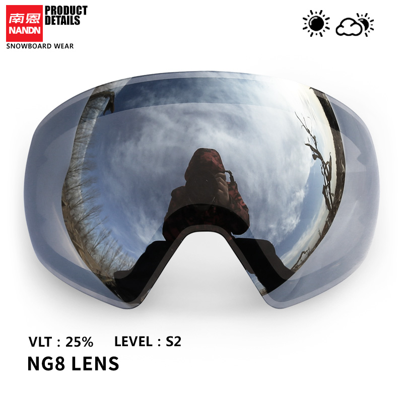 NANDN Ski Lens Double Layer Anti Fog And Anti UV400 Suitable For NG8
