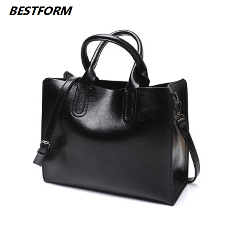 BESTORM Leather Handbags Big Women Bag High Quality Casual Female Bags Trunk Tote Spanish Brand Shoulder Ladies Large