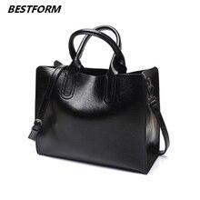 BESTORM Leather Handbags Big Women Bag High Quality Casual Female Bags Trunk Tote Spanish Brand Shoulder Bag Ladies Large Tote все цены