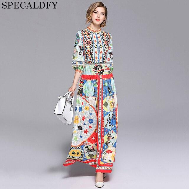 59ac1a07e1 Designer Dresses Runway 2018 High Quality Printed Retro Vintage Bohemian  Boho Maxi Dress Women Casual Luxury Long Dress Vestidos