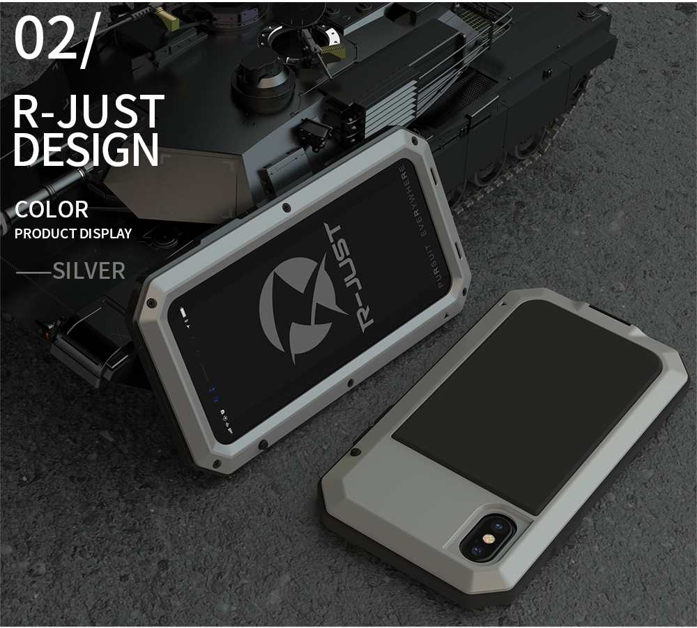 For iPhone X Tactical Waterproof Case (13)