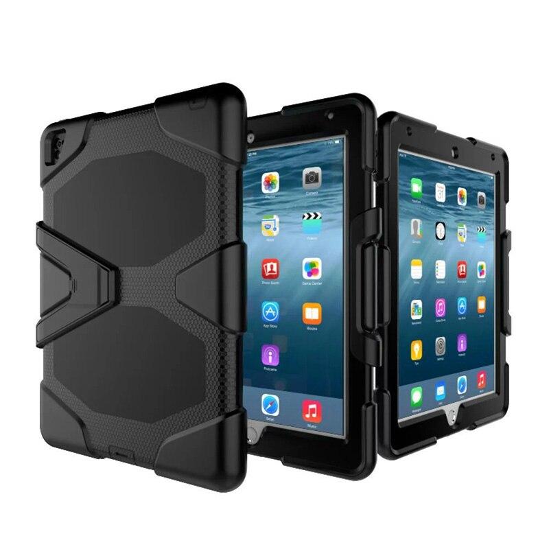 Pour iPad Air 2 boîtier étanche choc saleté neige sable preuve extrême armée militaire robuste béquille pour iPad A1566 A1567 couverture