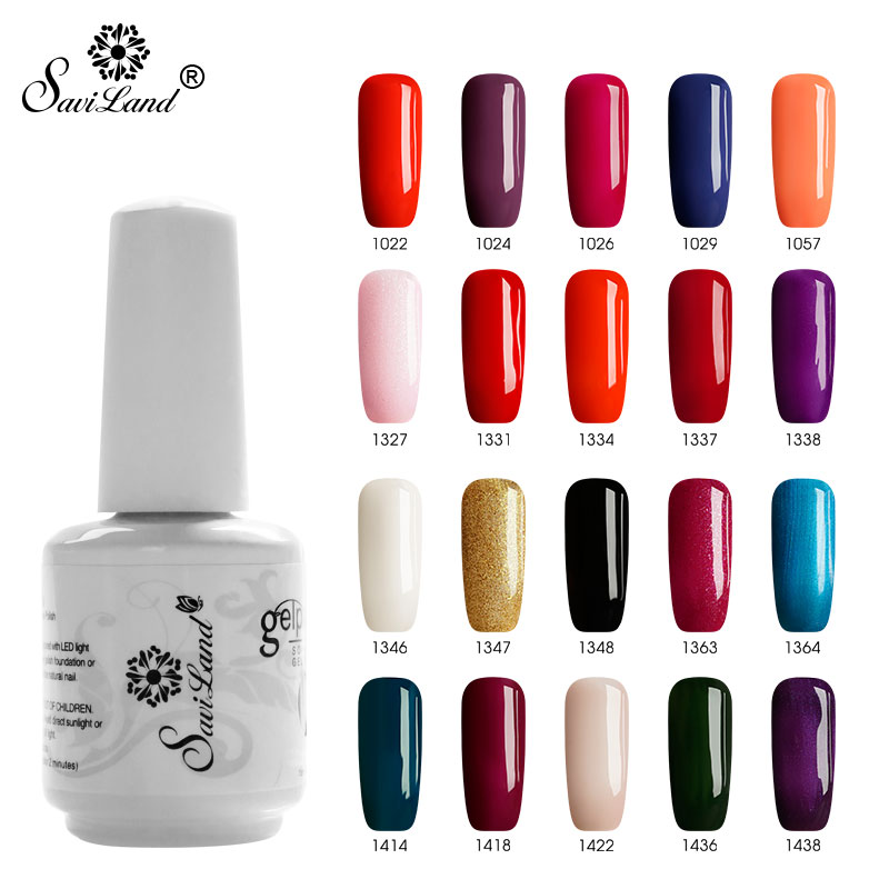 Saviland 15ml Uv Gel Nail Polish Glitter 58 Colors Gel for Nails Primer Gel Lacquer Esmalte Nail Art Gel Paint Vernis 12pcs lot green series uv gel nail polish led lamp gel lacquer gel polish vernis semi permanent gel varnish nail primer base top