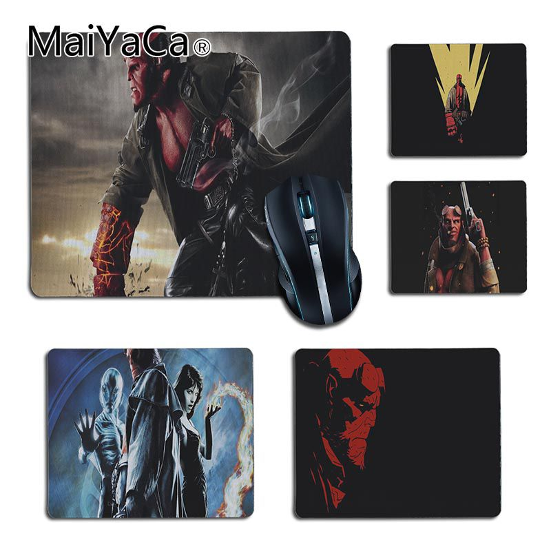MaiYaCa New Arrivals Hellboy Science fiction film Comfort small Mouse Mat Gaming Mouse pad Size 25x29cm 18x22cm Rubber Mousemats