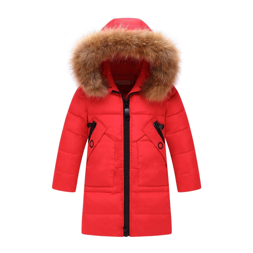 girls Children's down jacket in the long section of the two sides wear casual children's clothing thickening female big children outfit and daughter of girls cuhk children s children down jacket long tidal thickening of cultivate morality