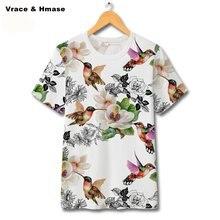 Модная футболка с короткими рукавами в китайском стиле цветочным