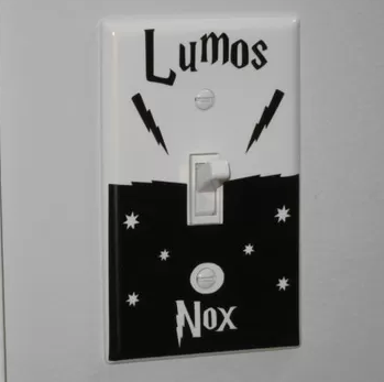 Harry Potter Lumos Nox Light Switch Sticker no.10