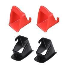 Черный/красный 1 пара автомобильное детское сиденье ISOFIX защелка разъем для ремня Пластиковая направляющая паз сиденье для салона автомобиля аксессуары