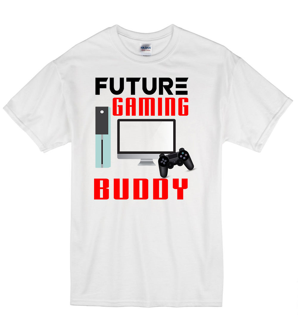 2018 Summer Fashion Casual Men O-Neck T Shirt Future Gaming Buddy Funny Kid Humour Nerd T Shirt Tshirt Mens Womens Gift ...