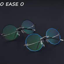 e3c959783 2019 أحدث بدون شفة للجنسين النظارات الكورية الرجال البصرية الإطار بما في  ذلك 1.61-8 لمكافحة بلو راي وصفة طبية عدسة 8585 يا سهولة.
