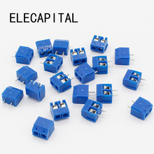 20pcs KF301-2P 2 Pin Plug-in Screw Terminal Block Contor 5.08mm Pitch