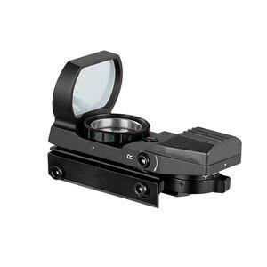 Image 3 - Hot 20mm Rail Riflescope Hunting Optics Holographic Red Dot Sight Reflex 4 Reticle Tactical Scope Collimator Sight