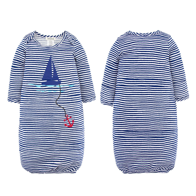 Baby Sleeping Bag Cute Sleep Sack For Newborn 100% Cotton Infant Clothes Style Sleeping Bags Sleeve Romper For 0-24M