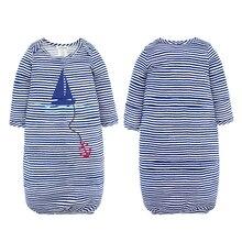 цены на Baby Sleeping Bag Cute Sleep Sack For Newborn 100% Cotton Infant Clothes style sleeping bags Sleeve Romper for 0-24M  в интернет-магазинах