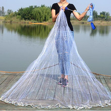 D600cm-D720cm usa style hand cast net no ring fish trap fishing net fishing network rede de pesca Fishing supplies outdoor tool diameter 240cm 300cm 360cm 420cm usa style cast net hand throw net fish trap fishing network pendant galvanization and lead