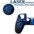 Laser caso capa de proteção da pele de silicone gel capa protetora da pele para sony ps4 playstation 4 controlador pega 4-color