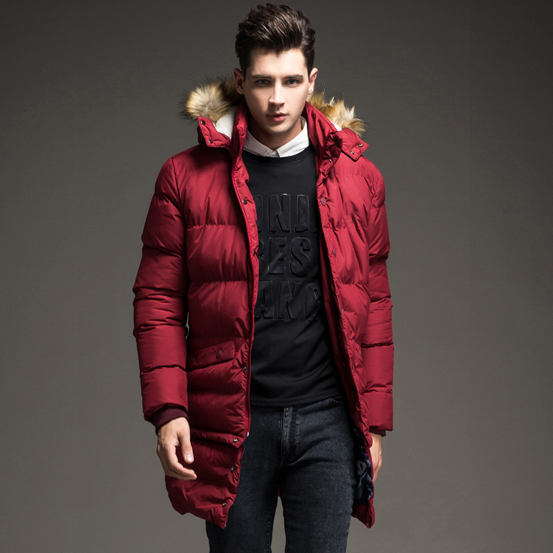 NATAZH High Quality Mens Parka Winter Jacket Coat with Hood men Warm Cotton Coats New Winter Collection Artificial hair collar