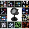 Thrisdar Rotating 12 Pattern Outdoor Laser Projector Lamps Snowflakes Star Christmas Party Landscape Garden Laser Spotlight