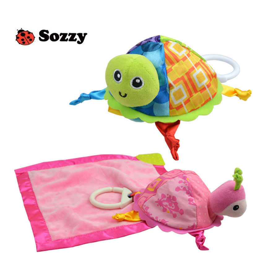 2018 New Hot Sozzy Baby Rattle Toys Sozzy Little Turtle