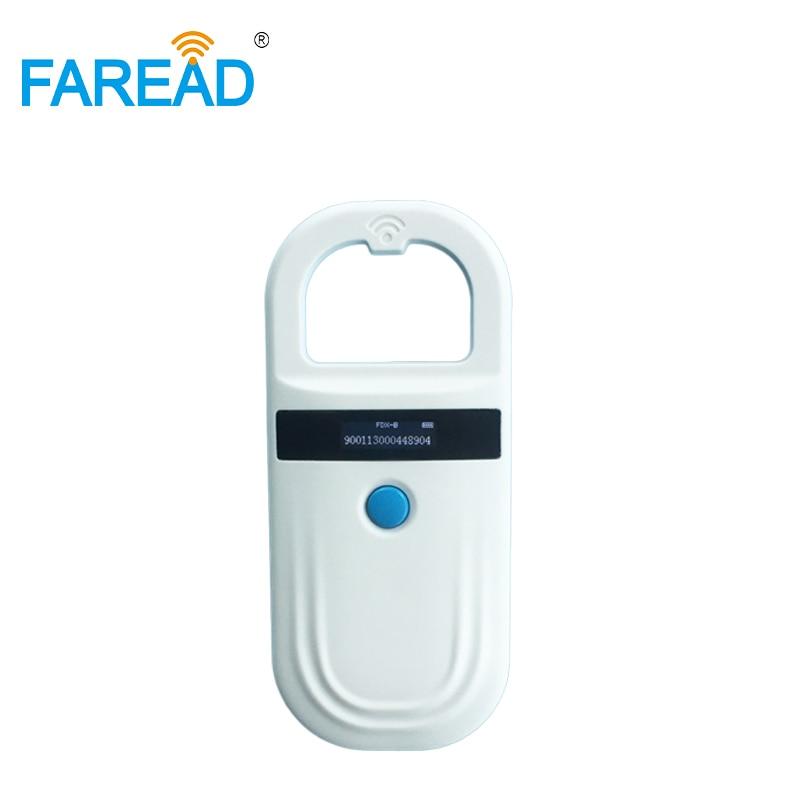 DHL Free Shipping CE,Rohs ISO11784/5 FDX-B EMID Pet RFID Reader
