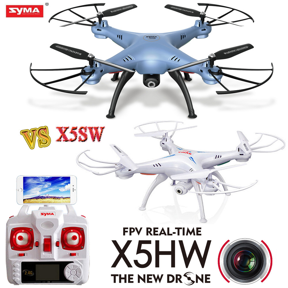 2016 NEW Syma X5HW FPV RC Quadcopter Drone with WIFI Camera Pressure High VS Syma x5sw -1 Upgrade RC Helicopter Toys syma x5hw fpv rc quadcopter rc drone with wifi camera 2 4g 6 axis vs syma x5sw upgrade drones rc helicopter toys with 5 battery