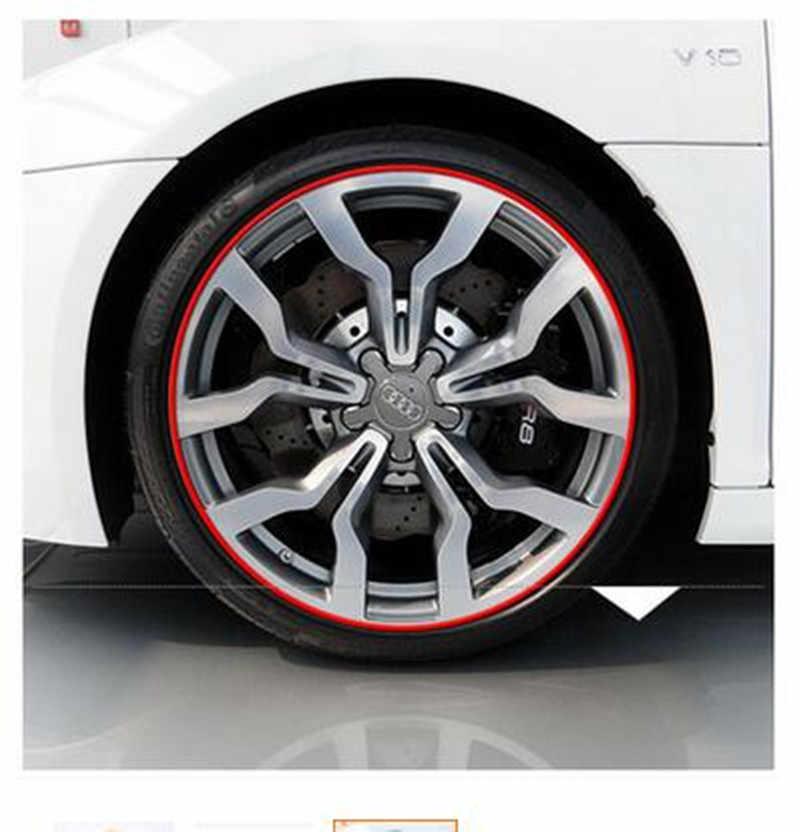 Accesorios de coche etiqueta engomada cubo de la rueda del neumático pegatinas para Land Rover discovery 2 3 4 freelander 1 2 defensor a9 a8 estilo de coche