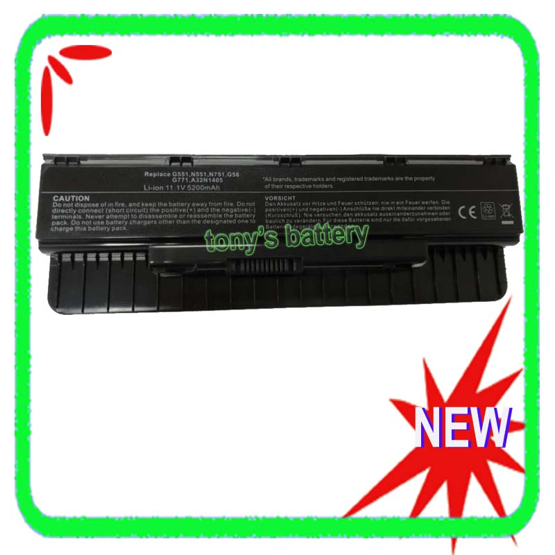 6 Cell A32N1405 Laptop Battery For Asus N551 N751 G551 G771 N551JK G551J G58JK G551JK G551JM G771JK G771JM 10 8v 56wh original new laptop battery for asus g551 g58jk g771 g771jk a32n1405 n551