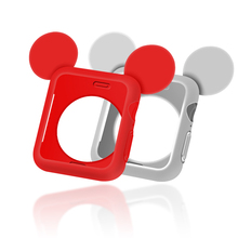 Cartoon Mickey pattern watch case For apple 40mm&for 4 44 mm Protective Cover Accessories for iwatch 40mm