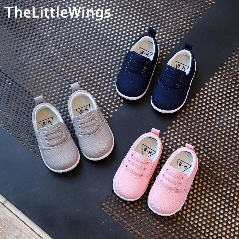 2017 Frühjahr Neue Mode Baumwolle Kinderschuhe Mädchen Jungen Faulenzer Koreanische Version Des Britischen Stil Kind Flache Kleinkind Schuhe