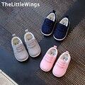 2017 primavera nueva moda de algodón para niños shoes niñas versión coreana del estilo británico holgazanes niño niño plana shoes