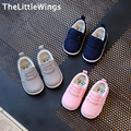 2017 spring new Fashion cotton Children's shoes girls boys loafers Korean version of the British style child Flat toddler shoes