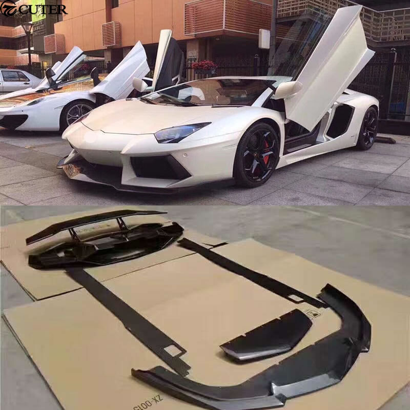 LP700 Car Body Kits Carbon fiber front lip rear diffuser side skirts rear spoiler for Lamborghini Aventador LP700 DMC style