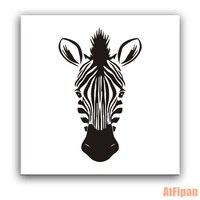 Mooie Zebra Hoofd Omlijst DIY Schilderen Nummers Animal Acryl Foto Wall Art Handgeschilderde Olieverf Voor Home Decor