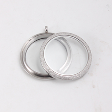 20mm/25mm/30mm/34mm/38mm silver 316L stainless steel floating locket pendant Glass memory father day gift