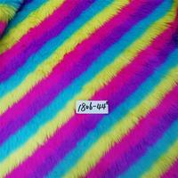 Faux fur Jacquard plush environmentally friendly cloth multi color for handbag(18mm pile long)