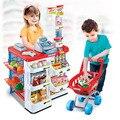 Juegos de imaginación Supermercado Caja Registradora de Juguete Caja de Oficina Tienda Puntuación Playset Juguete Regalos de Muebles para Niños con Sonido Y Luz