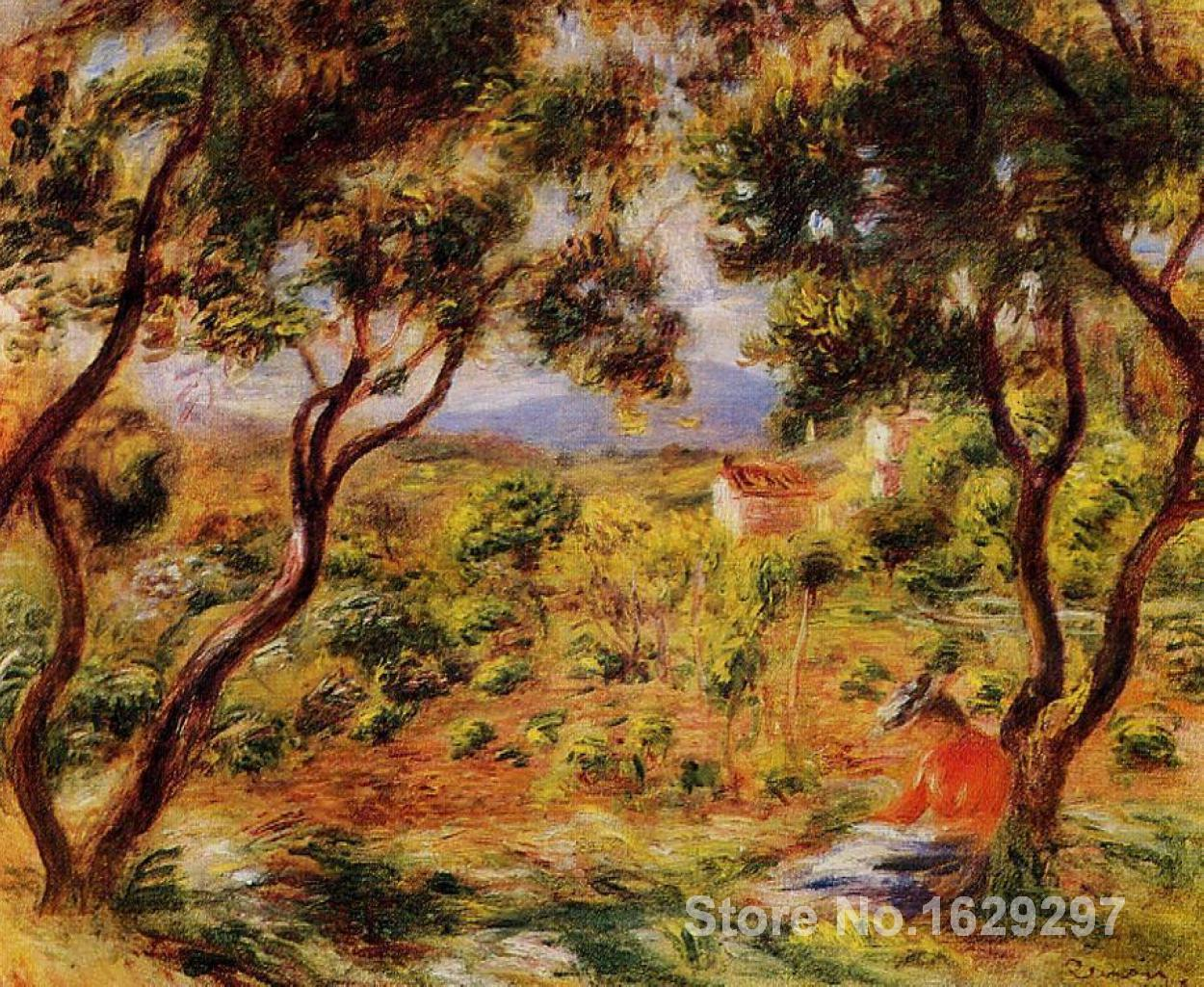 art canvas reproductions The Vineyards of Cagnes-Pierre Auguste Renoir Handmade oil painting High qualityart canvas reproductions The Vineyards of Cagnes-Pierre Auguste Renoir Handmade oil painting High quality